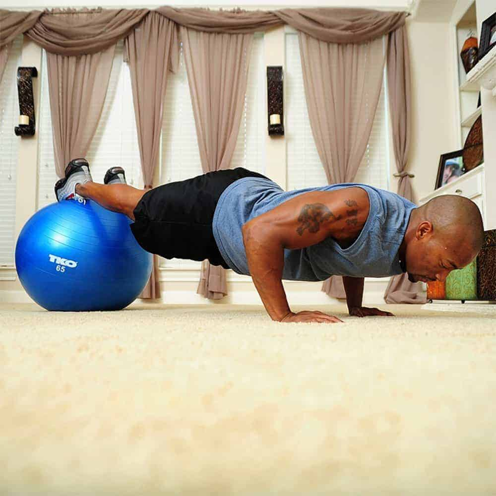 Exercise ball workout for abs