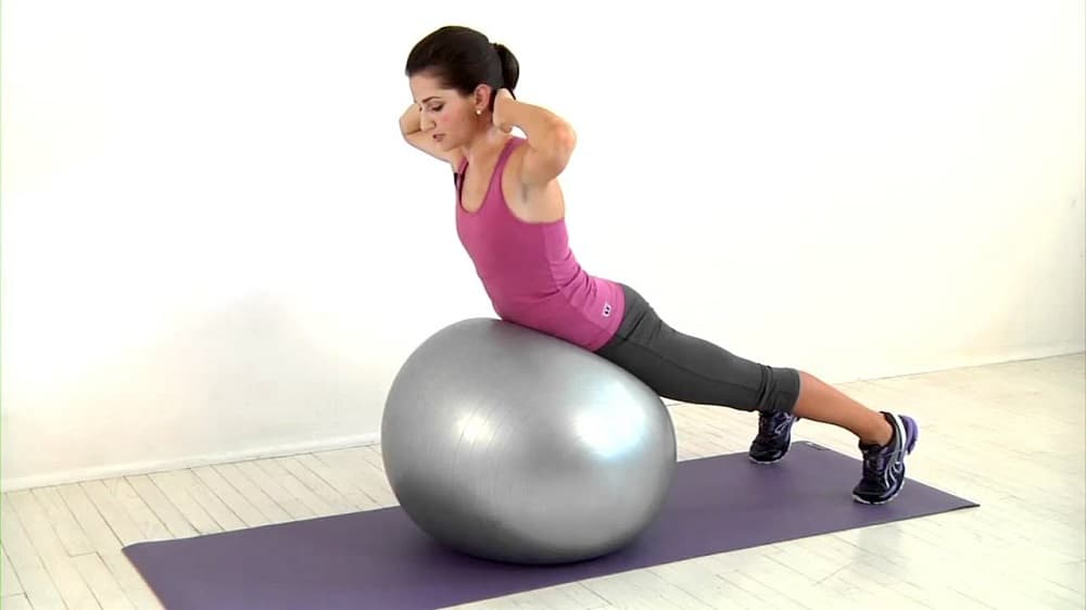 lower back exercises with stablity ball