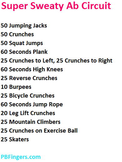 cardio and abs training