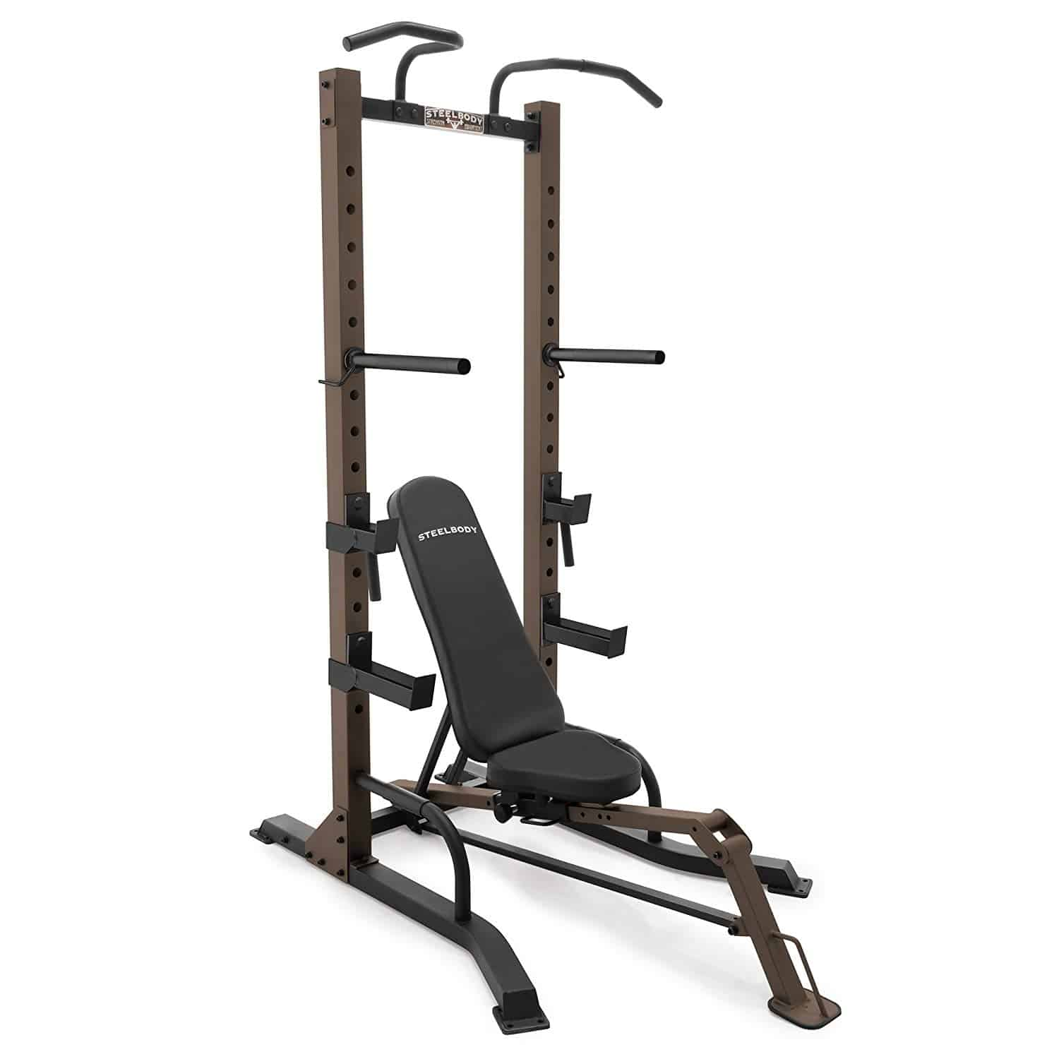 workout tower with adjustable bench