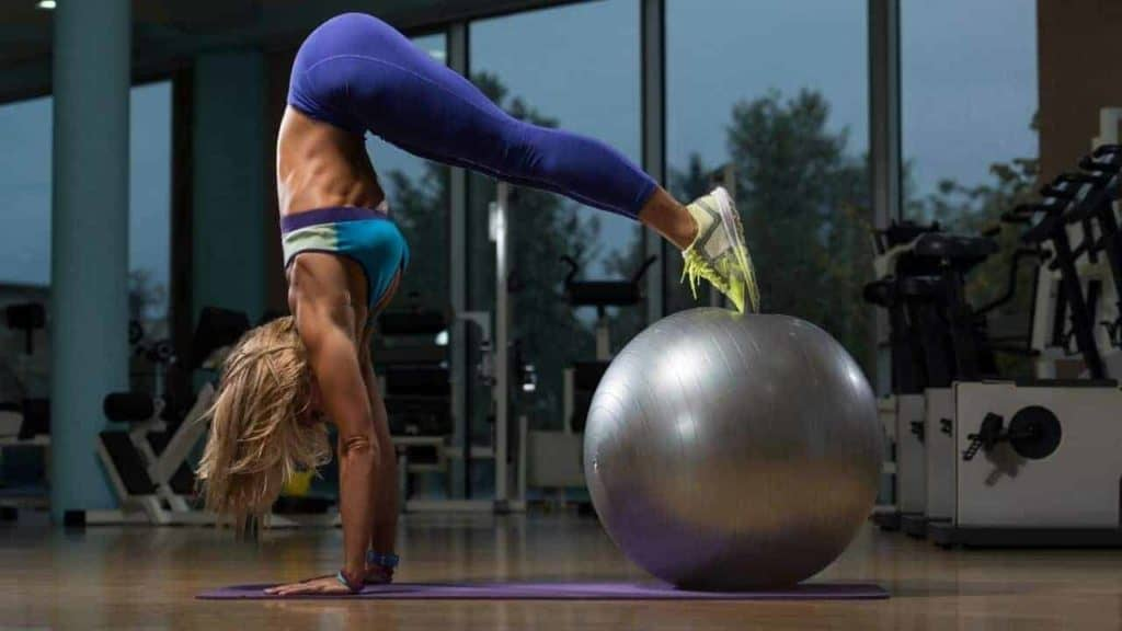 stability ball oblique exercises
