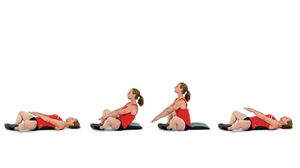 woman exercise on ab mat