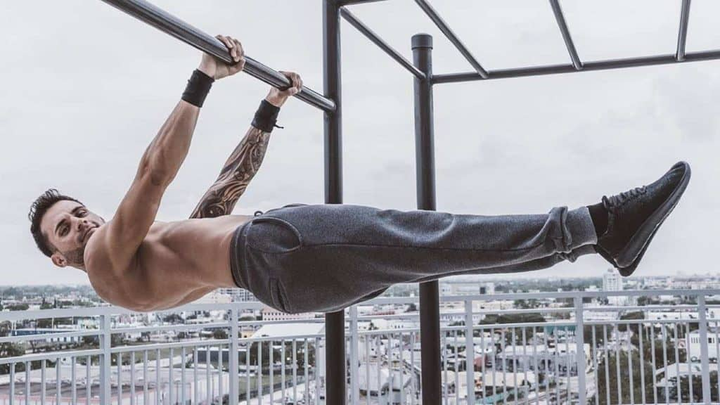front lever lower abs calisthenics exercise